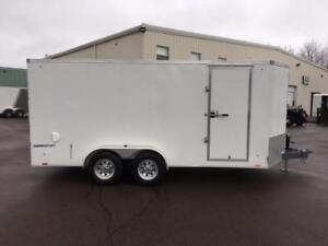 NEW 2018 PACE 7' x 16' CARGO SPORT ENCLOSED TRAILER