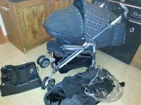 Mamas and papas pushcahir, carseat and changing bag....