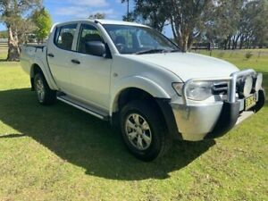 2012 Mitsubishi Triton MN MY12 GLX (4x4) White 5 Speed Manual 4x4 Double Cab Utility Tuggerah Wyong Area Preview