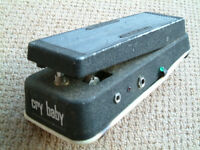 Cry baby wah wah guitar pedal as used by Jimi Hendrix