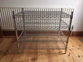 Chrome Plated Metal Storage / Shelving Unit