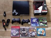 Sony Ps3 PLaystation 3 with all cablbe 2 controller 6 game GTA V