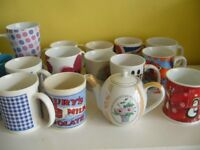 15 various china mugs and small teapot all good condition - Southbourne