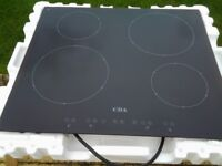 CDA HCN510 Black Ceramic Inductions Hob..Touch Control..Frameless..Used..VGC..Child Lock