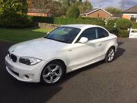 White BMW 1 Series Coupe 2012 - Perfect Condition.