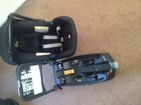 £20 SPECIAL FINAL OFFER Britax Baby Safe Car Seat PLUS Britax Baby Safe Isofix Base- all works fine