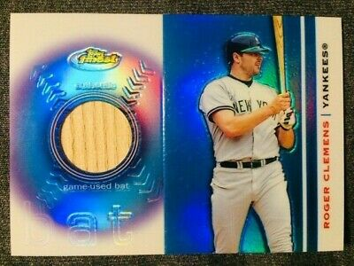 2003 Topps Finest Roger Clemens Game Used Bat Relic Card Mint Condition