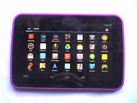 "Purple Tesco HUDL 1 Quad Core 16Gb WiFi 7"" Tablet & Lead"