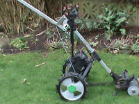 Hill Billy golf trolley, c/w battery and charger