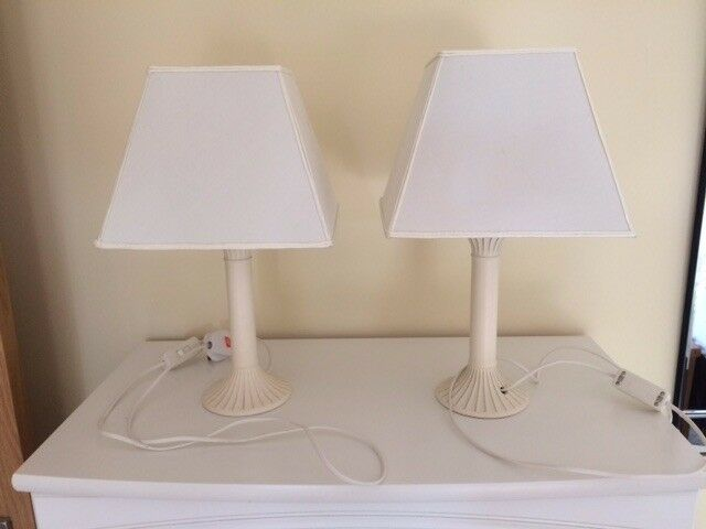 2 x Cream matching Lamps with Shades