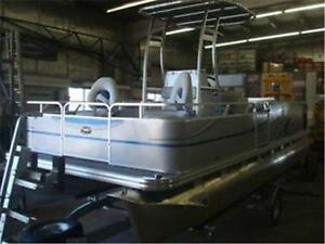 Centre Console Pontoon Boat Fishing boat !