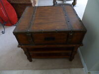 Heavy, Solid End Table… Very Neat Design - NEED GONE ASAP