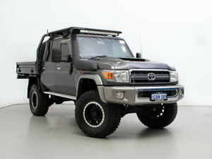2019 Toyota Landcruiser VDJ79R GXL (4x4) Grey 5 Speed Manual Double Cab Chassis