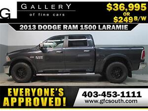 2013 DODGE RAM LARAMIE CREW *EVERYONE APPROVED* $0 DOWN $249/BW!
