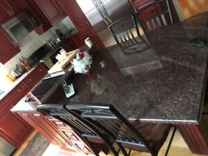 Red Cherry Wood Kitchen and Granite counter tops For Sale