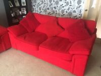 2 X red setee, in very good condition