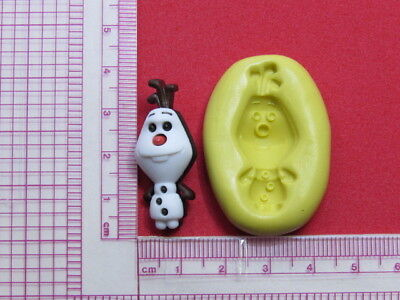 Frozen Olaf Character Snowman Silicone Mold A958 Chocolate Cake Topper Fondant