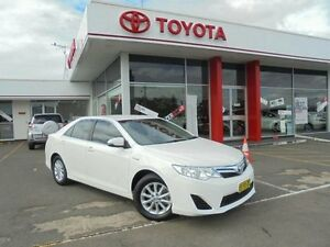 2013 Toyota Camry AVV50R Hybrid H Diamond White Continuous Variable Sedan Belmore Canterbury Area Preview