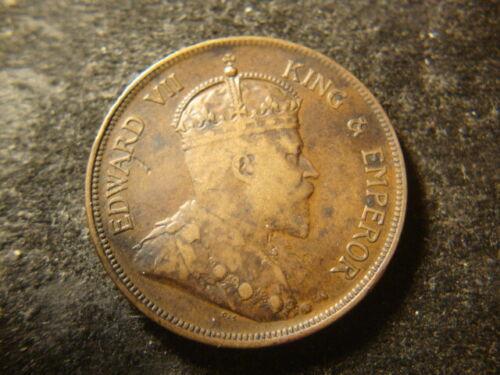 1906 F VF  British Honduras One Cent Coin Belize  PZX