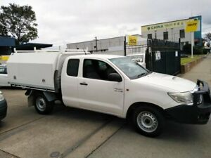 2012 Toyota Hilux KUN16R MY12 SR White 5 Speed Manual X Cab Pickup Lidcombe Auburn Area Preview