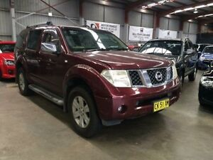 2005 Nissan Pathfinder R51 ST-L (4x4) Maroon 5 Speed Automatic Wagon Macquarie Hills Lake Macquarie Area Preview