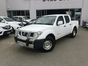 2013 Nissan Navara D40 MY12 RX (4x4) White 5 Speed Automatic Dual Cab Pick-up Beckenham Gosnells Area Preview