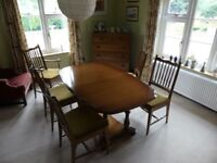 Stag Dining Table and 6 Chairs