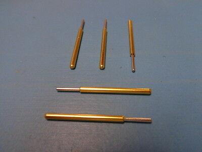 5 Spa-3j Everett Charles Pogo Spring Pin Full Rounded Tip Gold Made In Usa