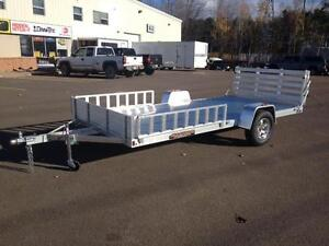 "New 2017 Aluma 81"" x 14' Aluminum UTV & ATV Trailer"