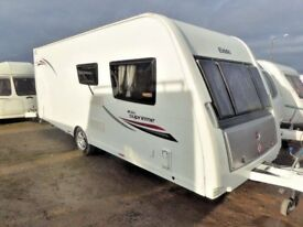 Elddis Supreme 564 4 berth fixed bed/or seating option. High spec,excellent