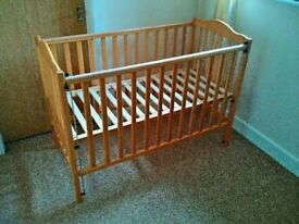 Baby Cot From Mamas And Papas Side Slides Down For Easy Access