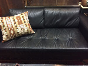 Italian 100% top grain leather and down  Apartment size Sofa