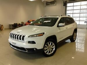 2016 Jeep Cherokee Limited, 4X4, CUIR, CAMERA, V6, DEMARREUR,