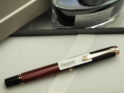 "Pelikan souveran M400 Black & Red M-nib and one Pilot Bottled Ink ""Iroshizuku"""