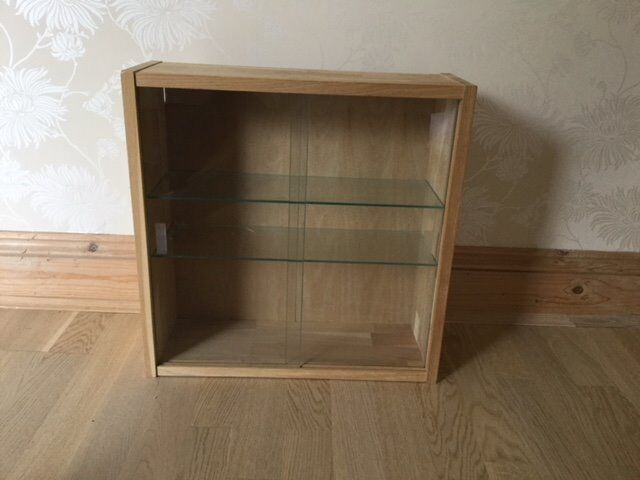 Ikea Jarna Gl Door Wall Display Cabinet Solid Wood Frame Unused With Moveable Shelves In Poole Dorset Gumtree