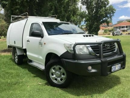 2012 Toyota Hilux KUN26R MY12 SR White 5 Speed Manual Cab Chassis Embleton Bayswater Area Preview