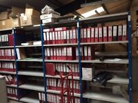 JOB LOT 20 bays of PROVOST industrial shelving 2.1m high ( storage , pallet racking )