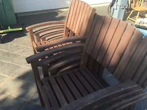 outdoor table setting large cedar with 8 seats Middle Ridge Toowoomba City Preview