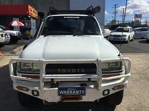 "1992 Toyota Landcruiser FZJ80R ""MANY EXTRAS"" 8 SEATS MANUAL 4X4 White 5 Speed Manual Wagon Underwood Logan Area Preview"
