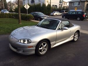 Well maintained Miata - convertible - all highway mileage