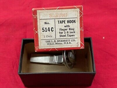 Starrett 514c Tape Hook W Finger Ring In Stock Vintage Rare