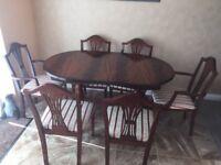 Rosewood Mahogany Table & Chairs.