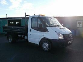Ford Transit T350 100PS S/CAB TIPPER DIESEL MANUAL WHITE (2014)