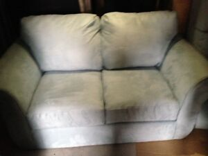 ASHLEY BABY BLUE SOFA/LOVESEAT $200.00 + TAXES
