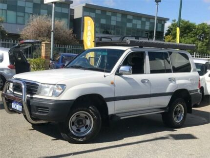 1999 Toyota Landcruiser FZJ105R GXL (4x4) White 4 Speed Automatic 4x4 Wagon St James Victoria Park Area Preview