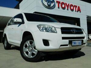 2010 Toyota RAV4 ACA33R 08 Upgrade CV (4x4) White 4 Speed Automatic Wagon