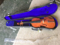 STENTOR STUDENT 5 3/4 SIZE VIOLIN WITH HARD BLACK CASE - No bow