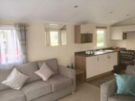 Willerby Expression luxury two bedroom spacious caravan sliding door decking