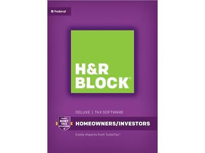 H R Block Tax Software Deluxe 2017
