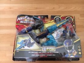 Power Rangers Megaforce Sea Brothers Zord Vehicle and Blue Ranger still in box